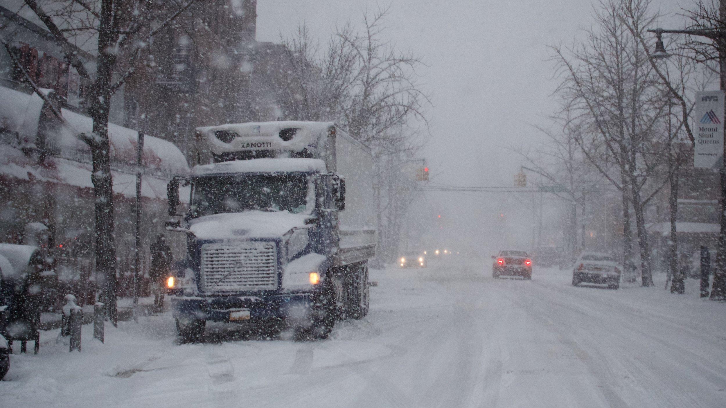 Snowy Morning on Ditmars Boulevard