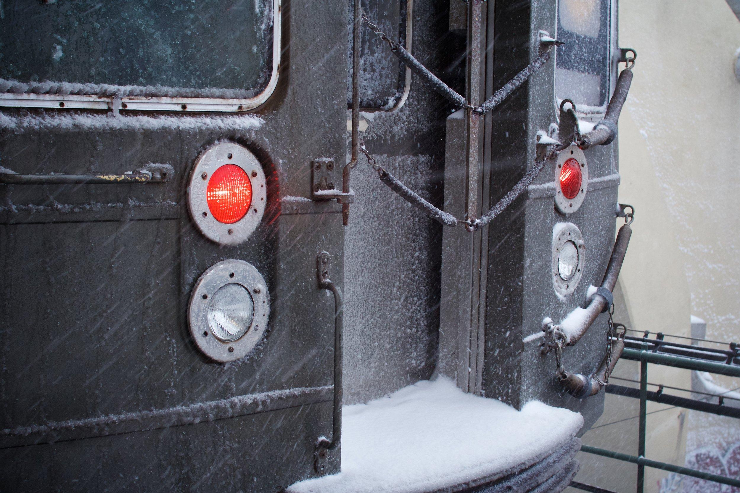 Train, close-up