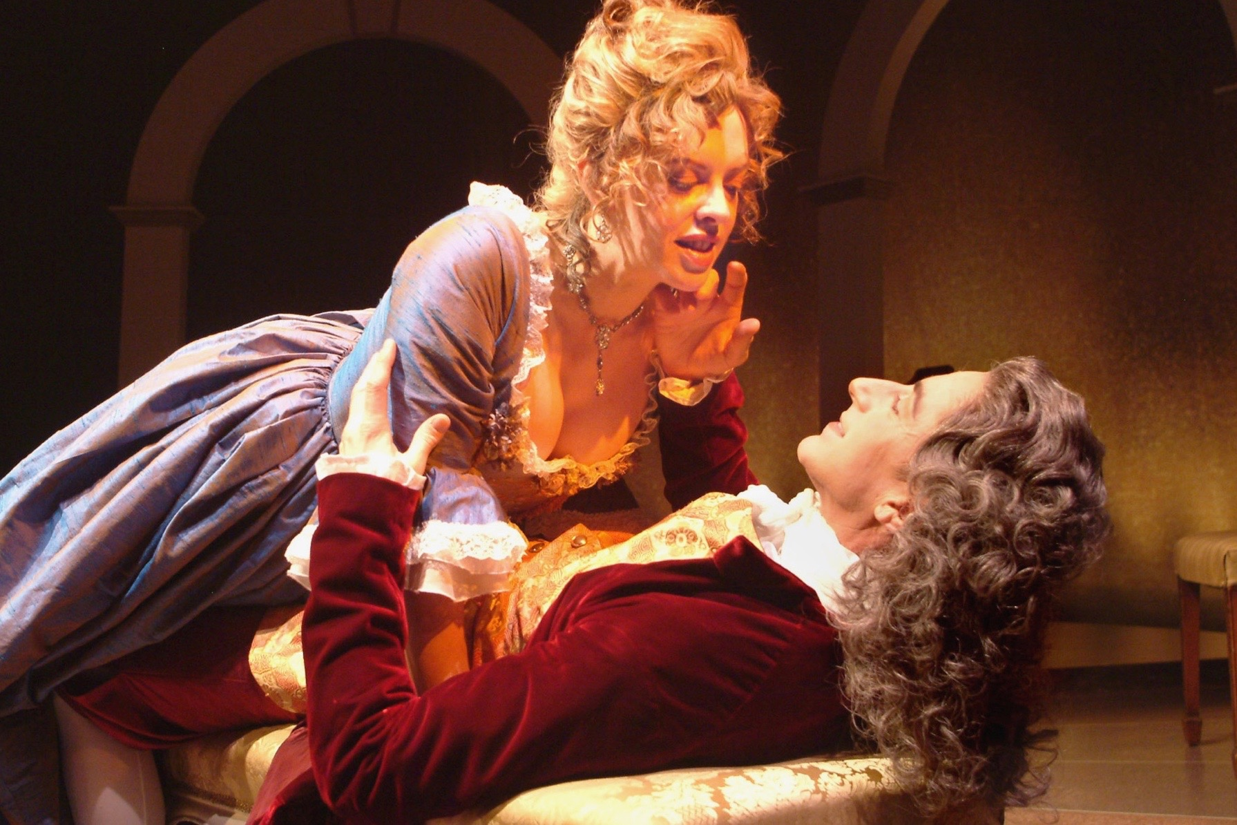 """As voltaire's Mistress in """"Light"""" @ the theatre @ Boston Court"""
