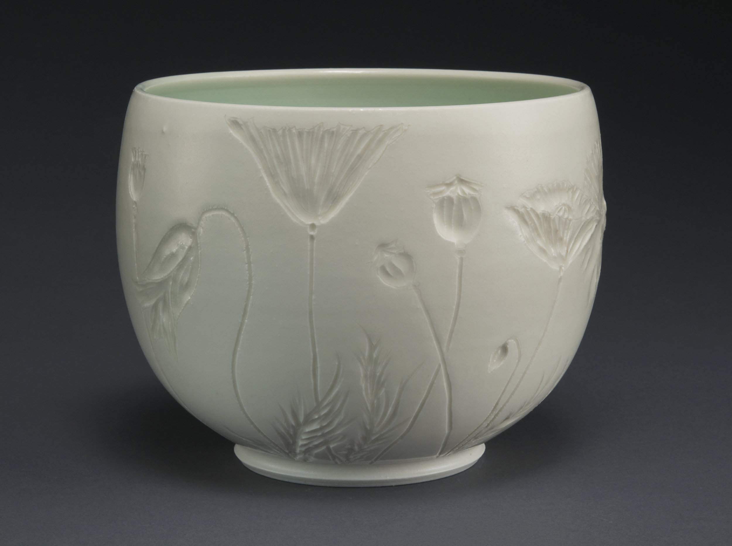 poppy bowl  porcelain, electric-fired