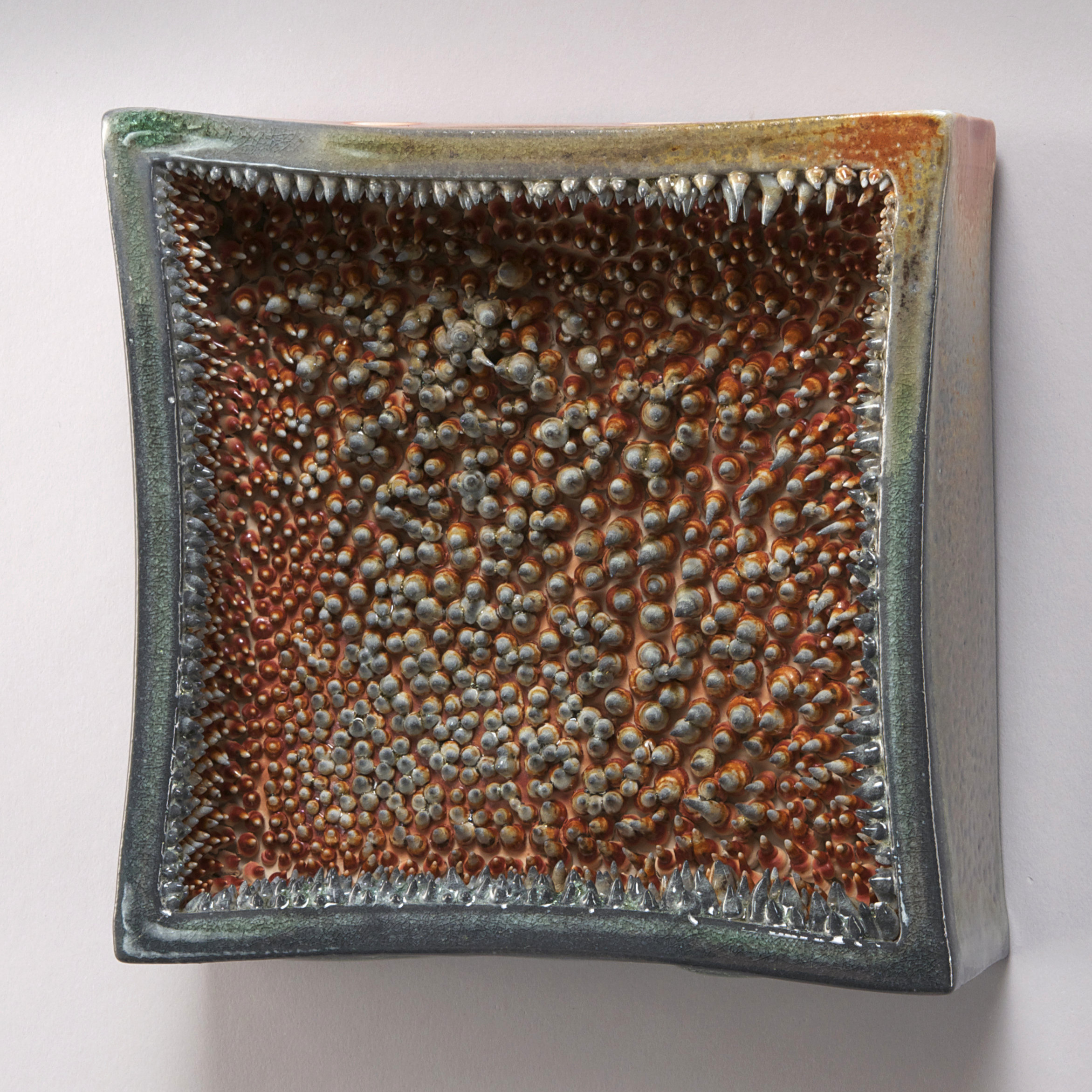 """""""Geode""""  porcelain, wood-fired  6"""" x 6"""" x 3""""  sold"""