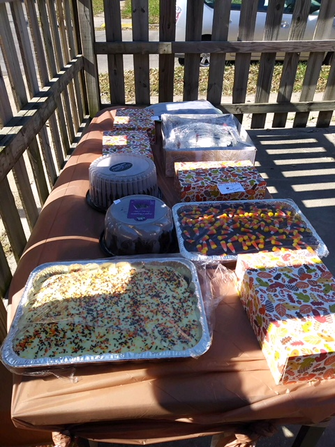 Goodies for the Cake Walk.