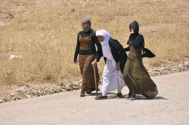 Yezidi women after release from ISIS detainment. Photo/Domenico