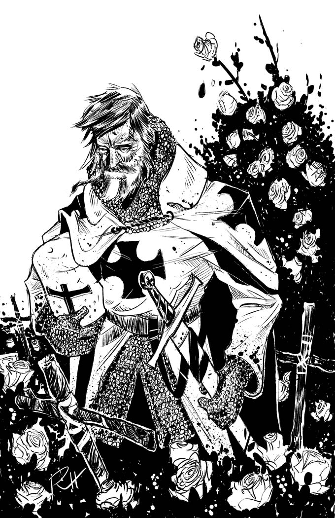Comic-Book-Art-Inking-Crusader-Knight-Medieval-Robin-Holstein.jpg