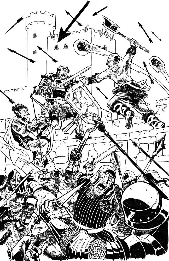 Comic-Book-Art-Inking-Fantasy-Battle-Scene-Part-2-Robin-Holstein-Let's-draw-#19.jpg