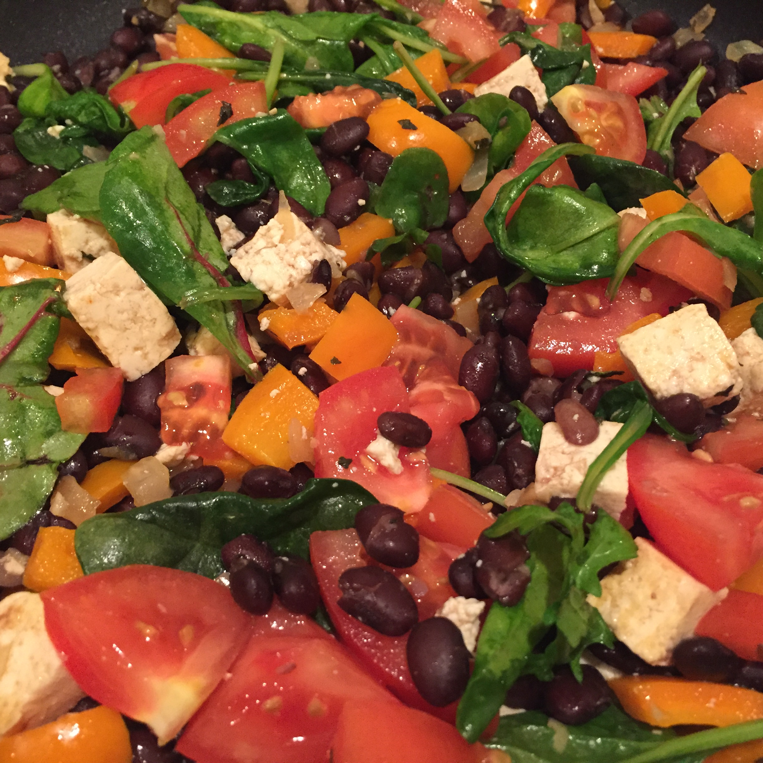 Black bean veggie fiesta with quinoa