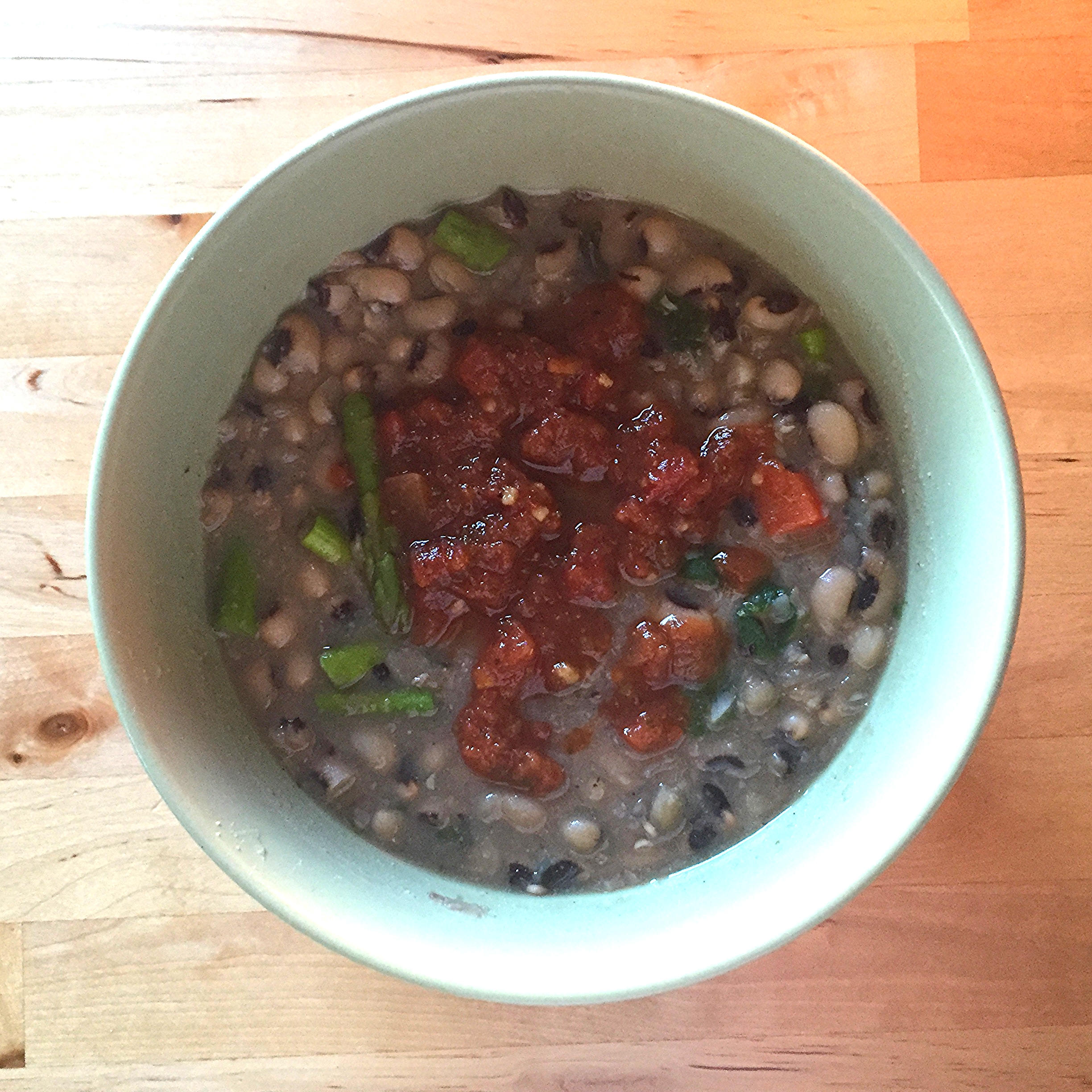 Black Eyed Peas Soup with Salsa - 1