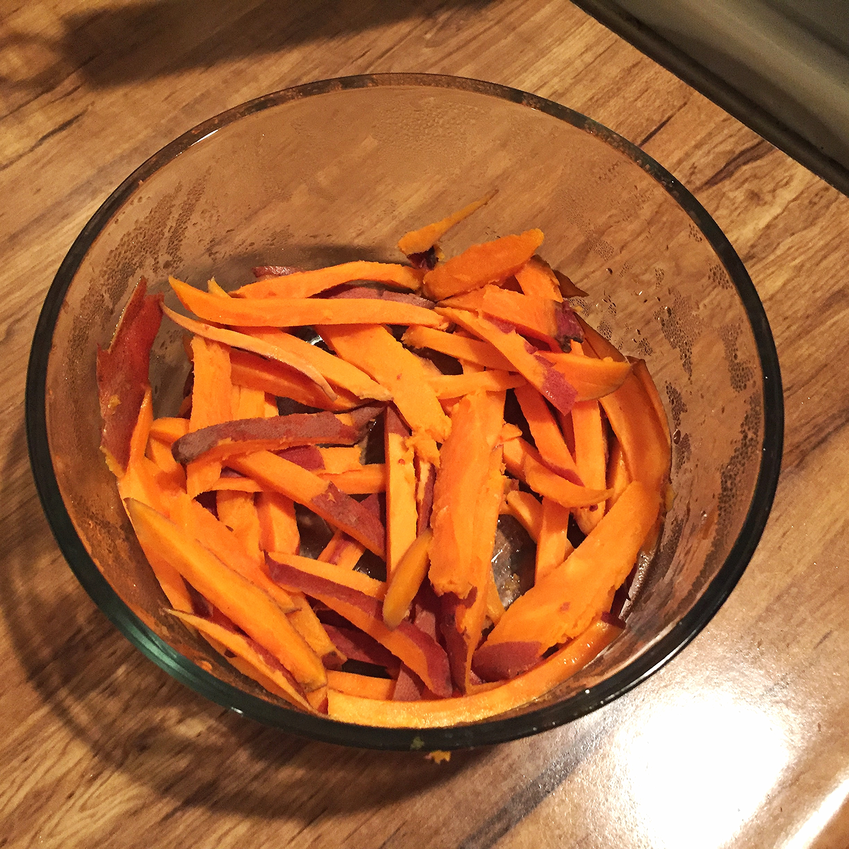 Raw Sweet Potato Fries