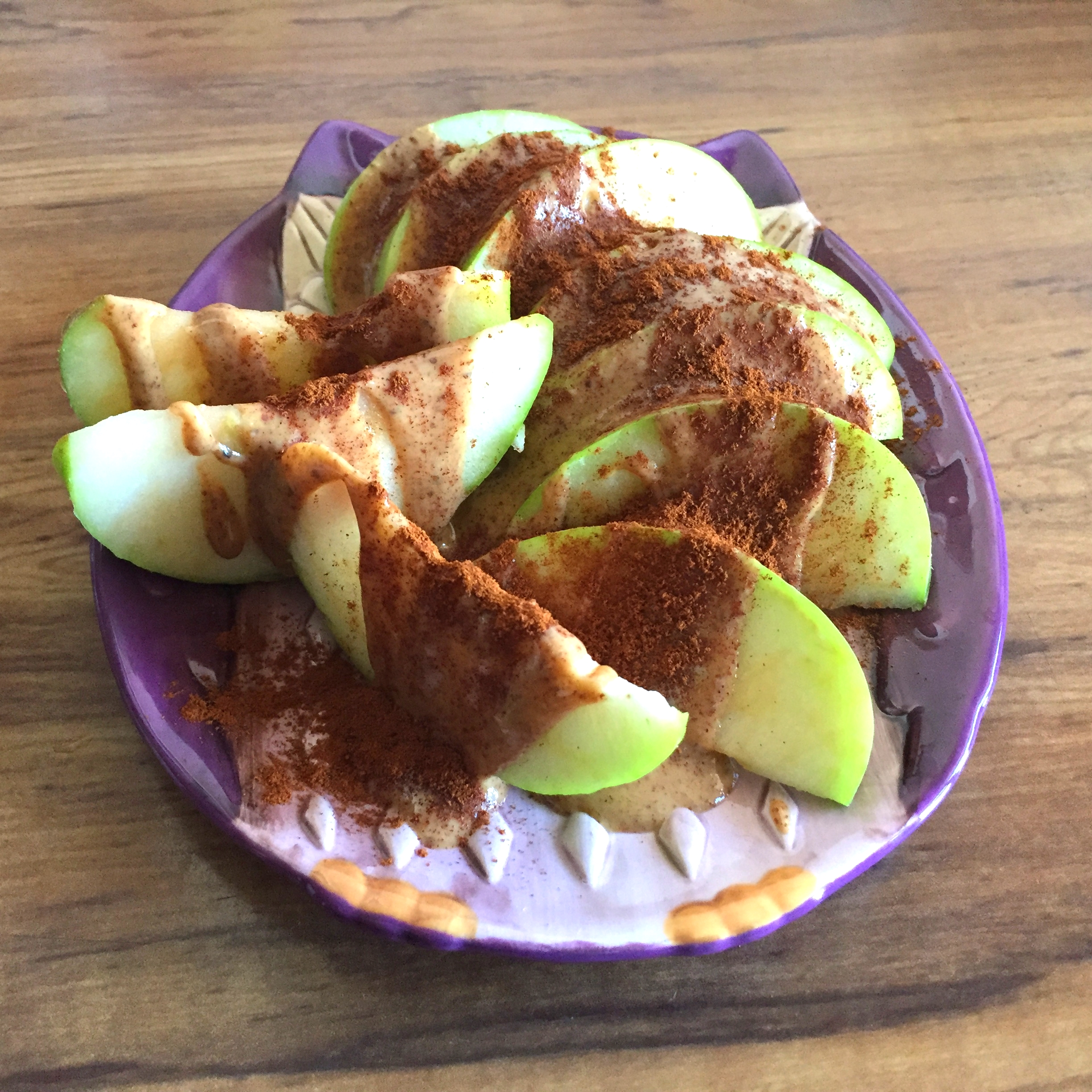 Green Apple and Almond Butter with Cinnamon - 2