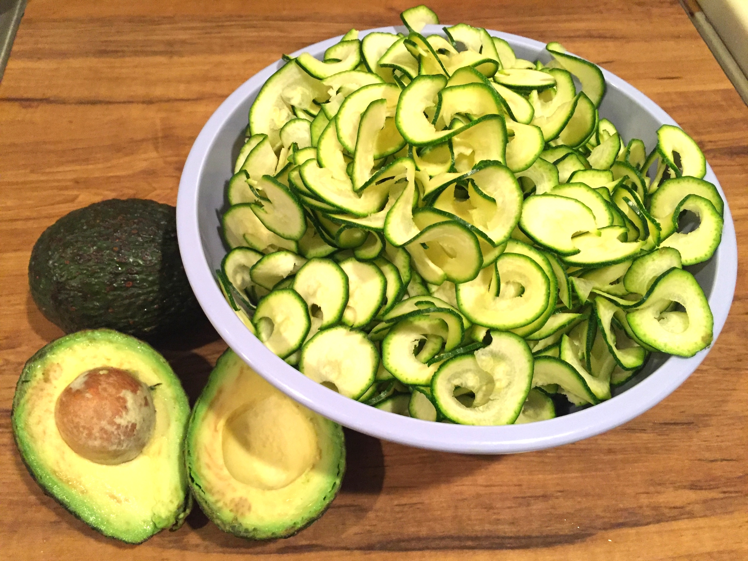 Avocado and Spiralized Zucchini