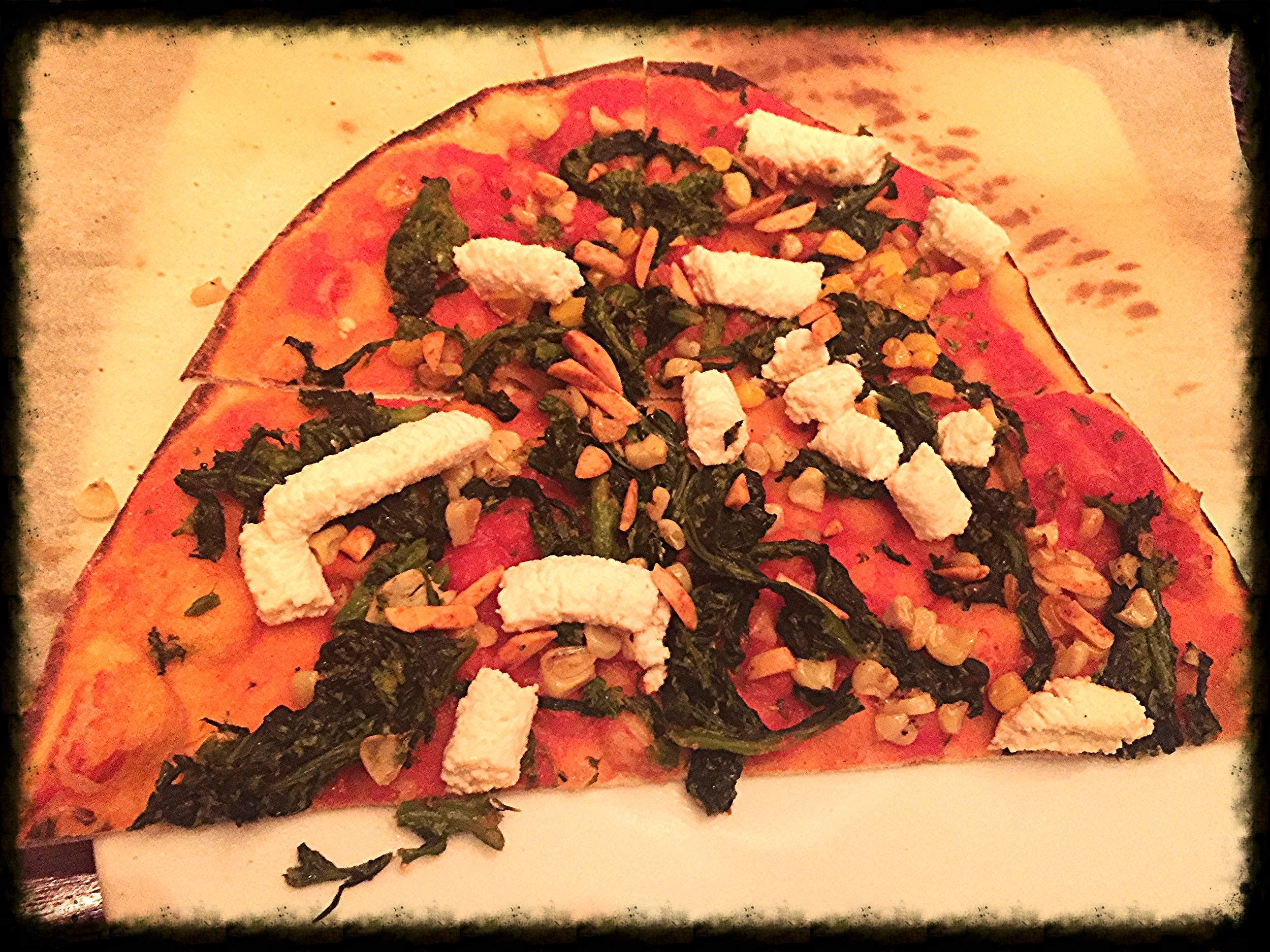 Vegan pizza from Allegro at Wynn Las Vegas