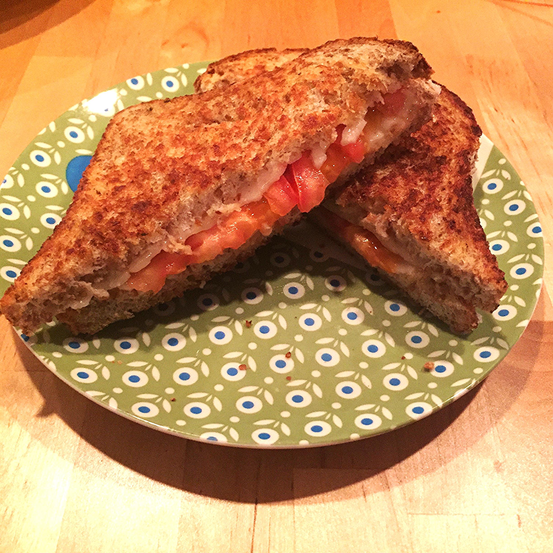 Vegan Grilled Cheese Sandwich with Hemp Bread