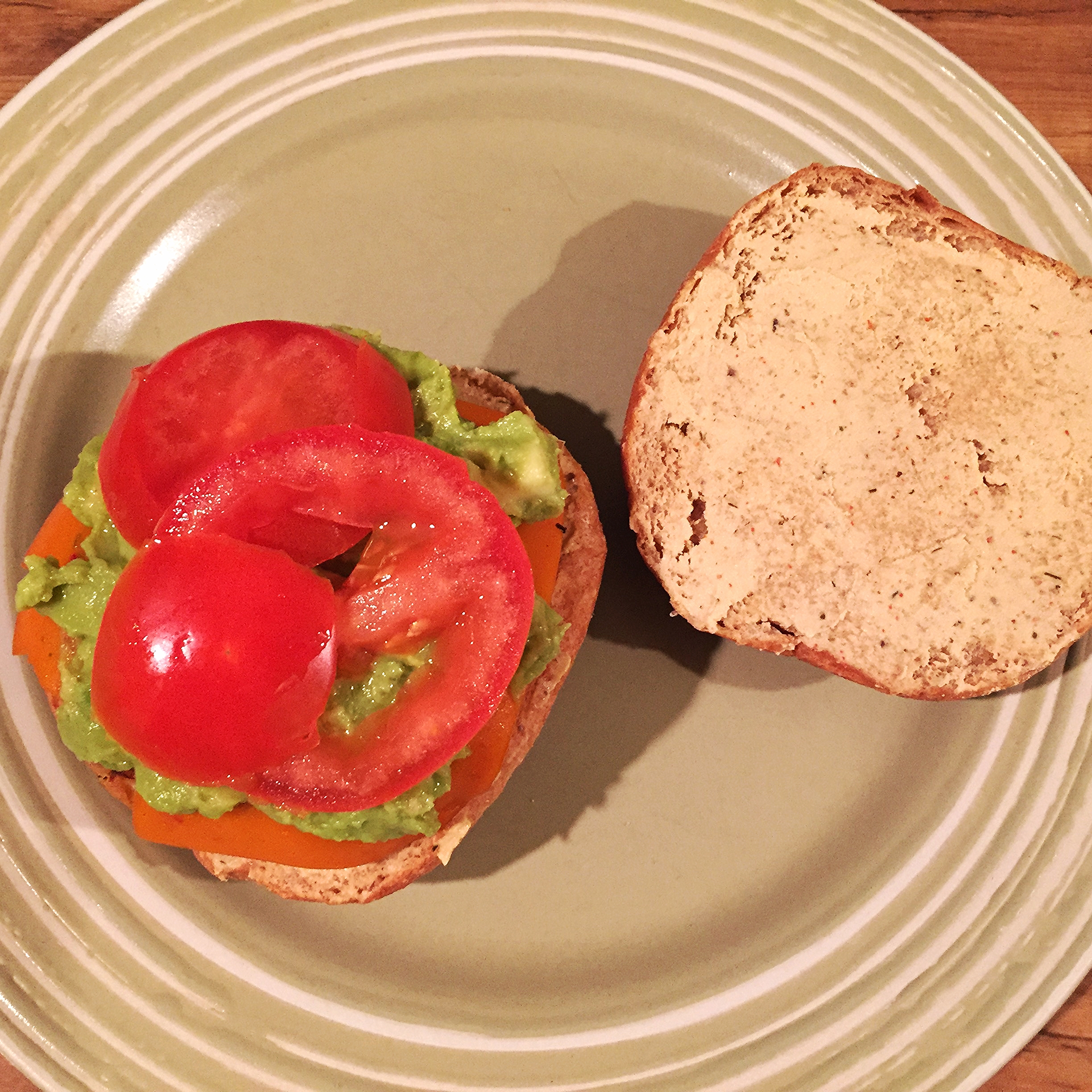 White bean and red lentil burger from Thug Kitchen: The Official Cookbook