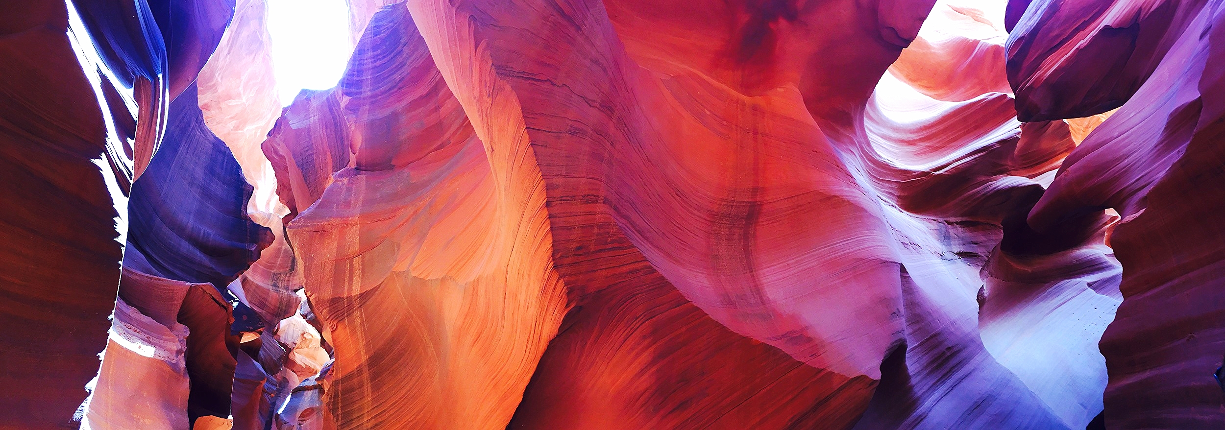 Panoramic shot of Lower Antelope Canyon