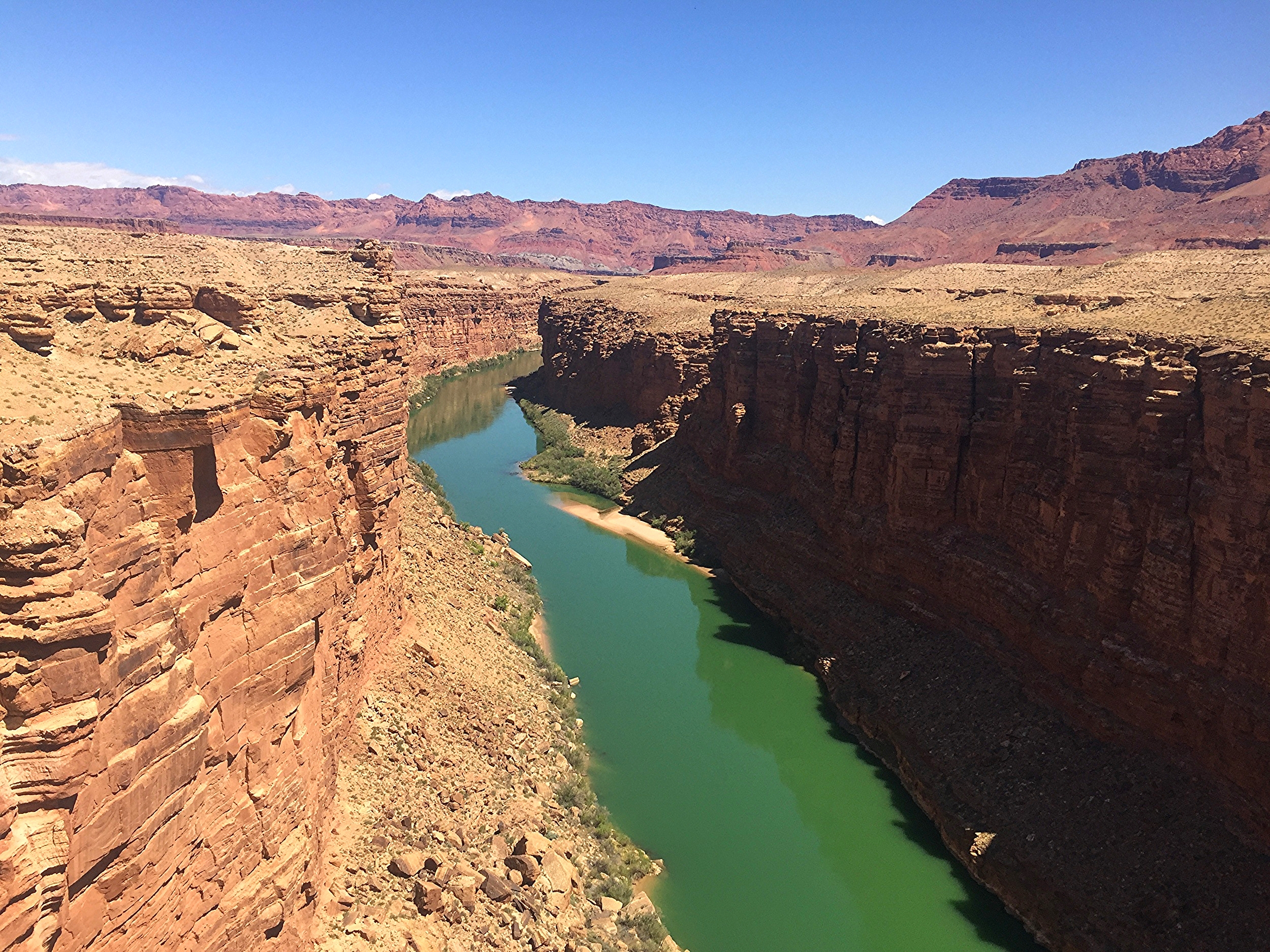 Colorado River on the north side of the Navajo Bridge