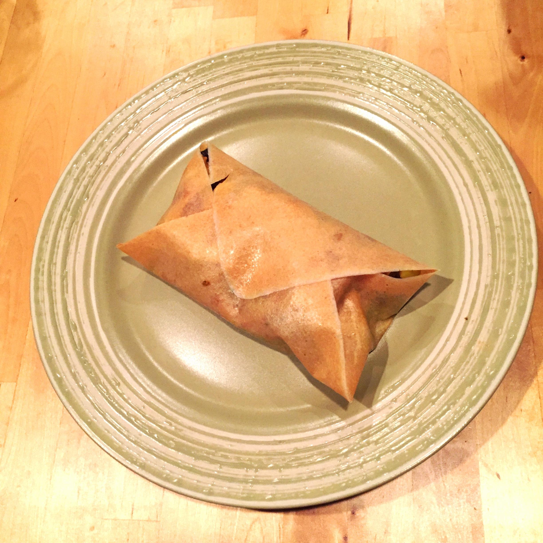 Black bean and veggie coconut wrap
