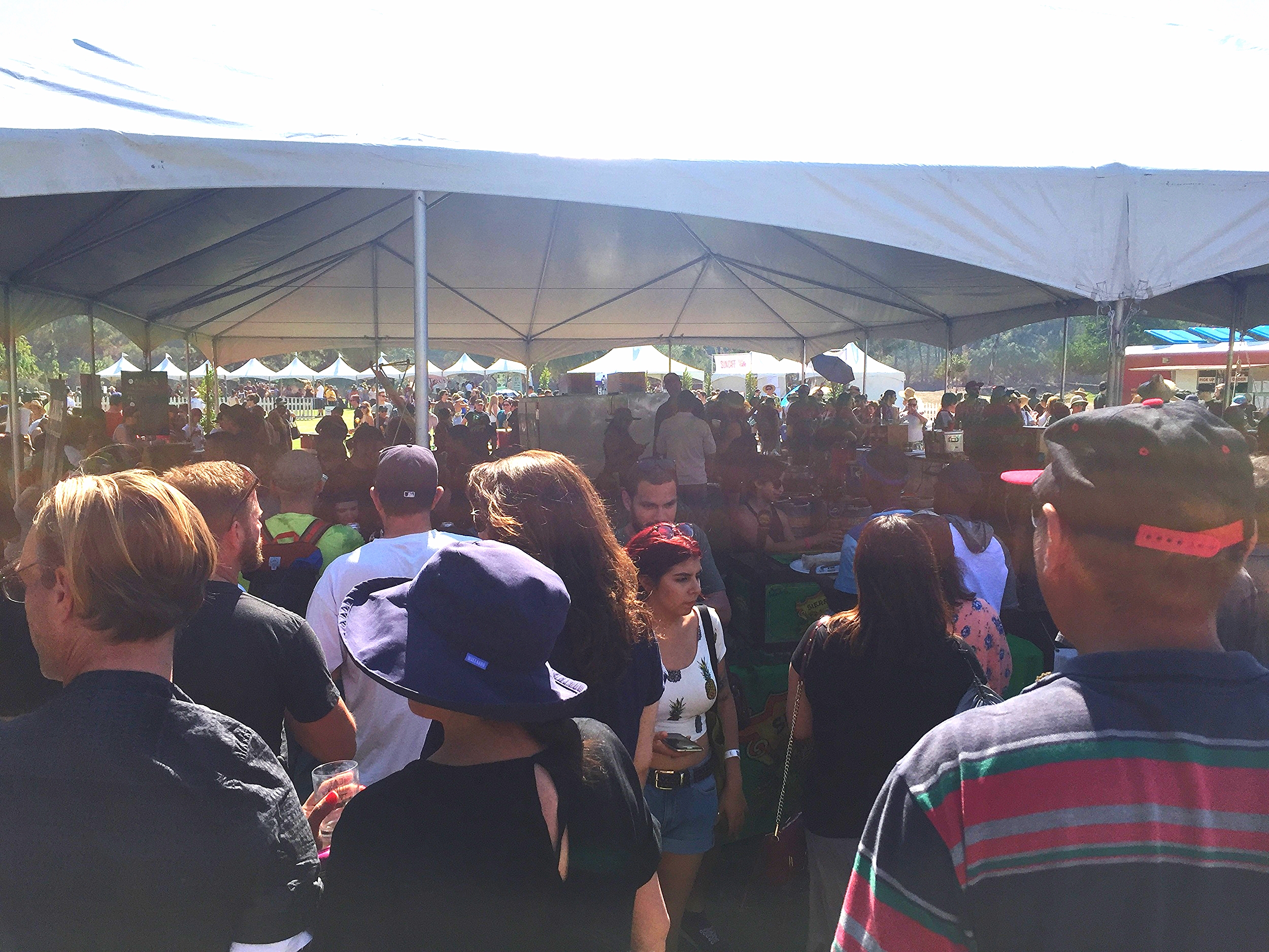 One of the many beer tents