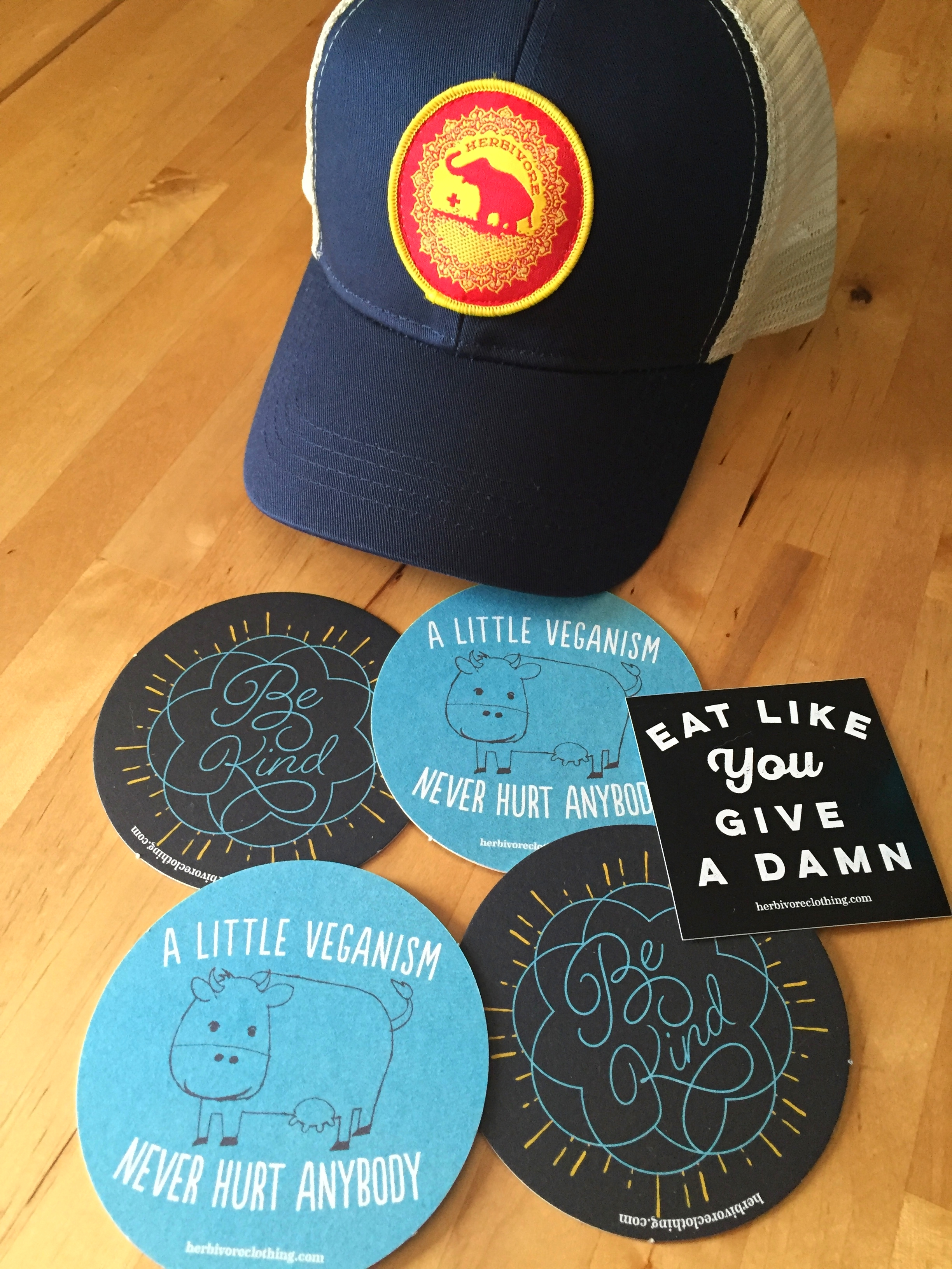 Some vegan swag from  Herbivore Clothing Co.