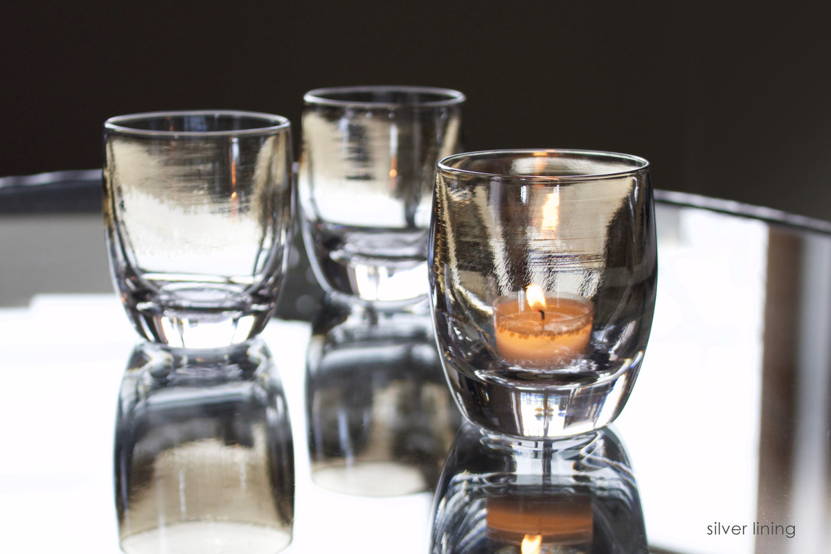 glassbaby 'silver lining' votives