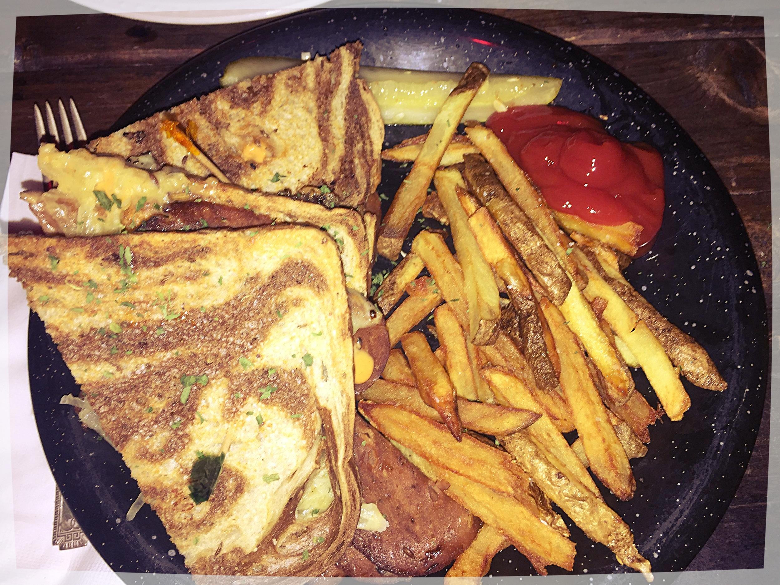 Vegan reuben sandwich from Highline Bar in Seattle, Washington