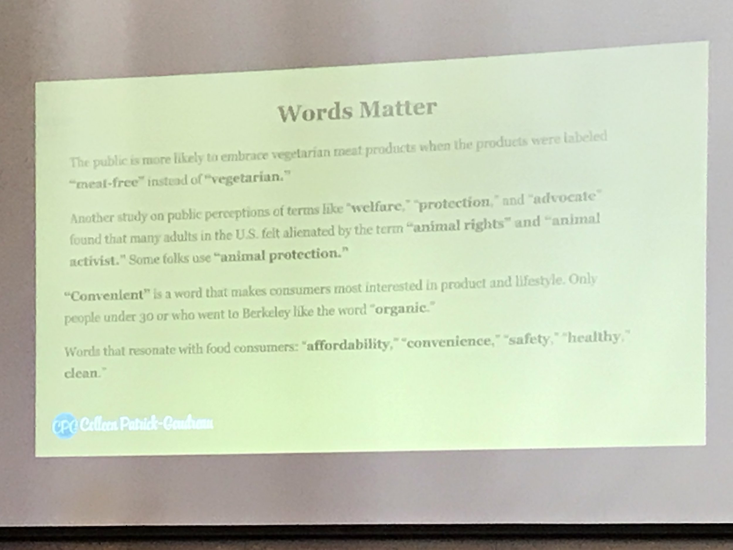 Words matter when communicating our vegan values