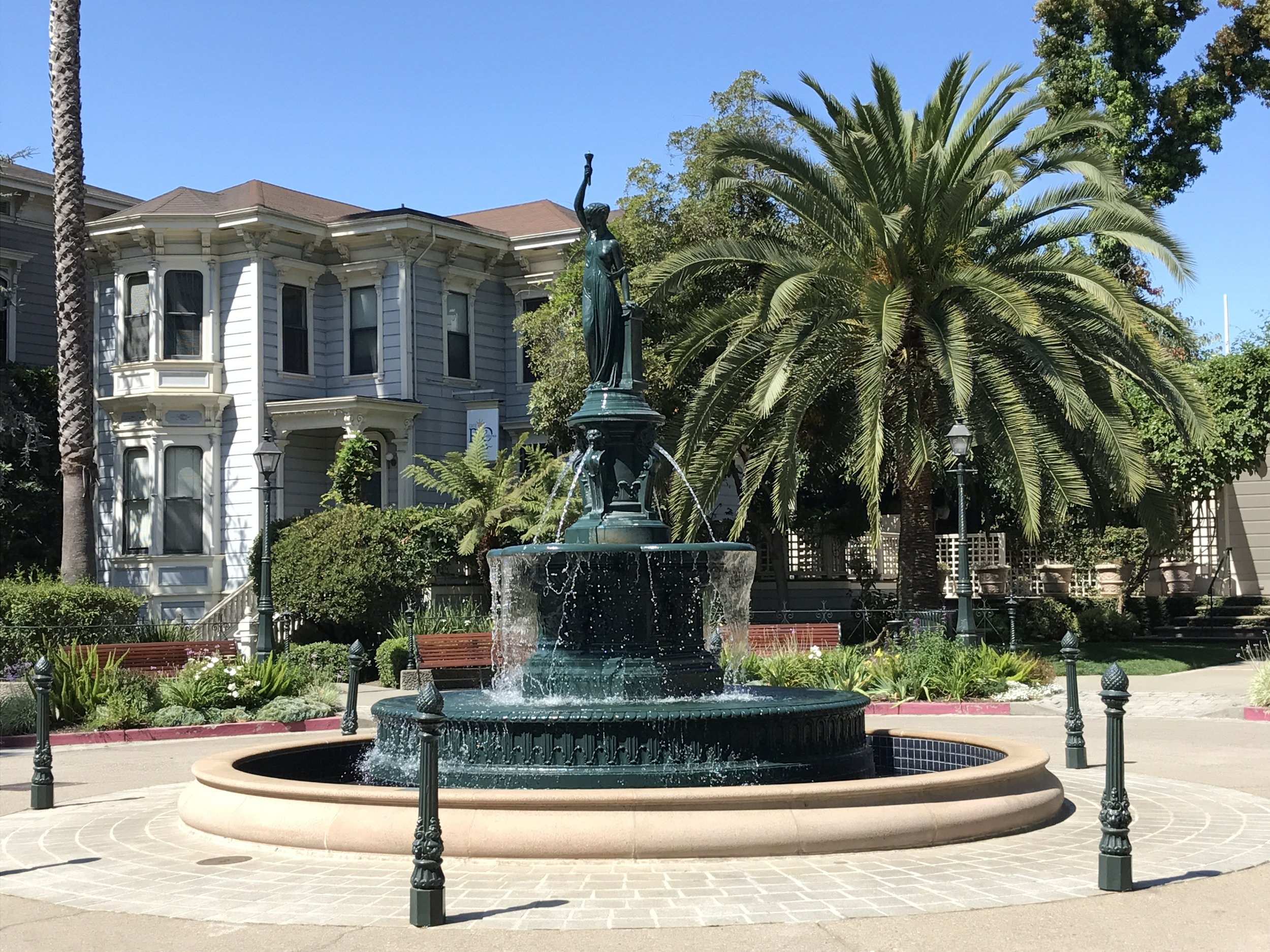 Latham-Ducel fountain in Preservation Park in Oakland, California