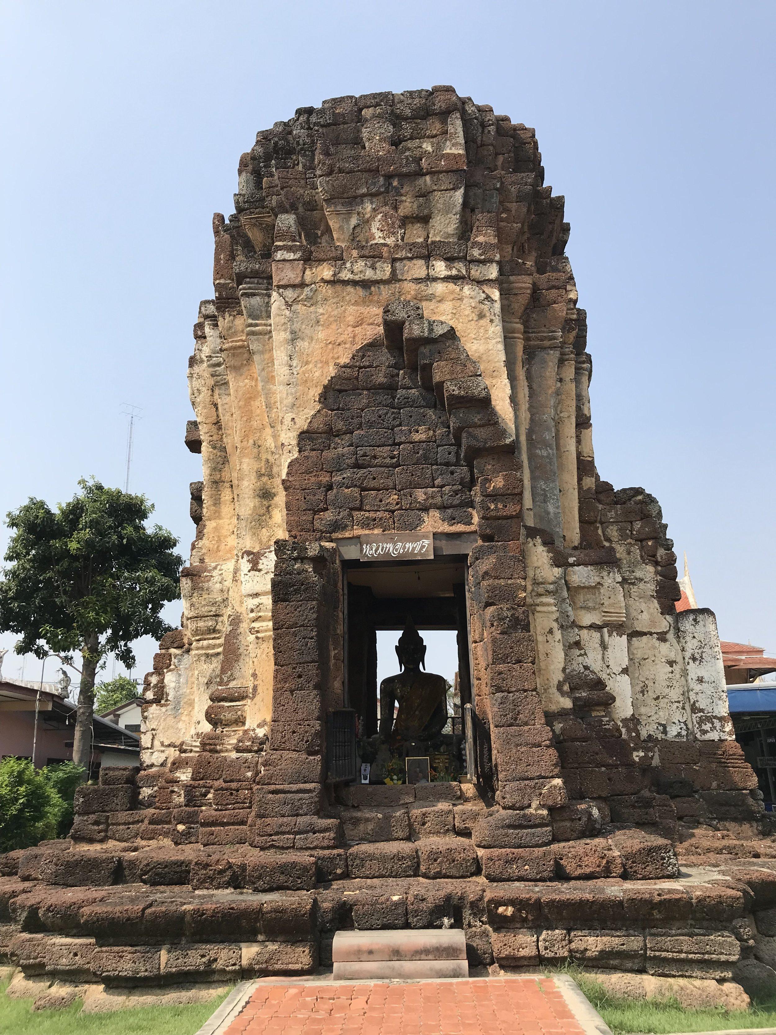 Wat Kampang Lang, the oldest temple remains in Phetchaburi Province