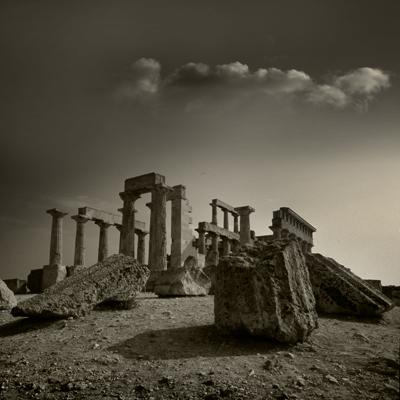 Luís Barreira  Templo de Afaia, Egina, 1984  Grécia  Diapositivo  coordenadas:37.754143, 23.533030