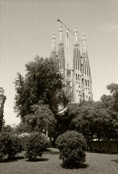 Luís Barreira  Sagrada Família de Antoni Gaudi (arquitecto)  Barcelona, 1992  Fotografia  Gelatin Silver print
