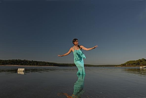 Luís Barreira  Dancing in the water II  Lagoa de albufeira, 2015  Fotografia  Série:  arquivo:09_0650, 2015