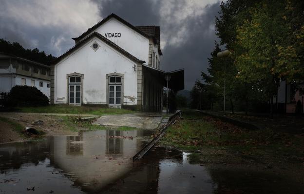 """Luís Barreira  Estação de Comboio, vidago, 2013  Fotografia  série: """"quando estas árvores se desnudam descobrem as minhas raízes""""   arquivo:10_3307, 2013"""