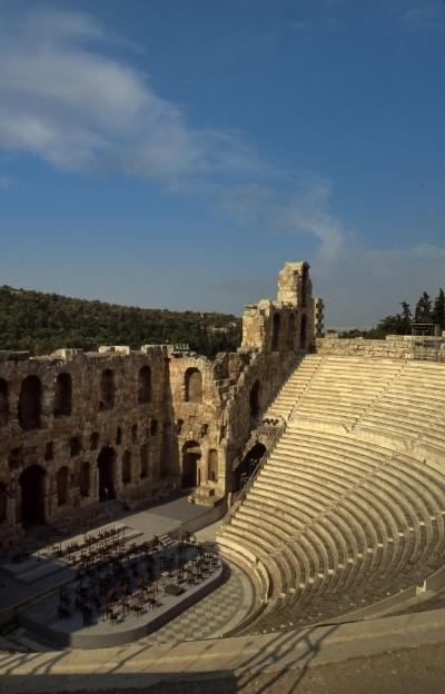 Luís Barreira  Teatro Romano na Acrópole de Atenas  Grécia, 1984  Fotografia/Diapositivo  arquivo:SLIDE_Grecia_1325, 1984
