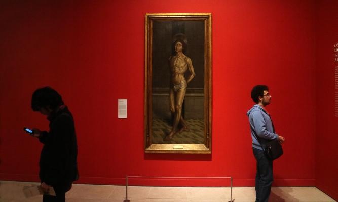 Luís Barreira  São Vicente atado à coluna (século XV).  autor desconhecido   Museu Nacional de Arte Antiga , Lisboa.  2017  Fotografia  arquivo:04/02/img-6044, 2017