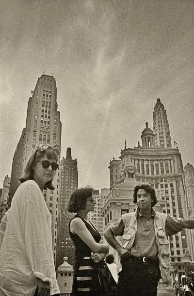 Amy Yoes, Fátima Vaz e Luís Barreira  Chicago, 1994  arquivo: F_193-12081, 1994