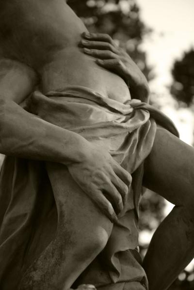 Luís Barreira  Rapto de Proserpina (pormenor) do escultor John Cheere (1709-1787)  Palácio de Queluz, 2013  Série:  Fotografia  arquivo:12_09_DSC_1017, 2013