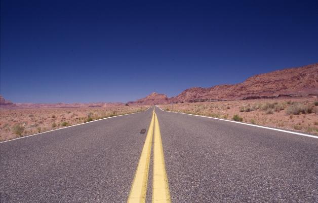 Luís Barreira  Road, 2002  Arizona, USA  Série: Landscapes  Fotografia  Diapositivo digitalizado  arquivo:SLIDE_20855, 2002