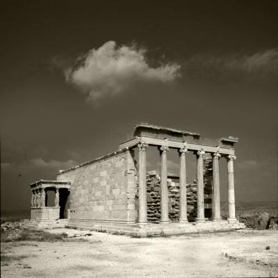 Luís Barreira  Templo de Erecteion, 1984  Acrópole, Atenas  Grécia  Fotografia  arquivo:1984_SLIDE_Grecia_1250