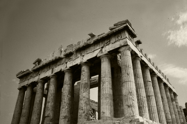 Luís Barreira  Pártenon, 1984  Grécia  série: antiguidade clássica  Fotografia  arquivo:1984_SLIDE_Grecia_1319