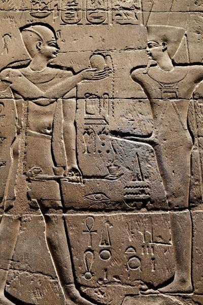 Templo de Luxor  Divindade  Min   Foto  by  Luís Barreira  arquivo: 2018_07_16_DSCF9242