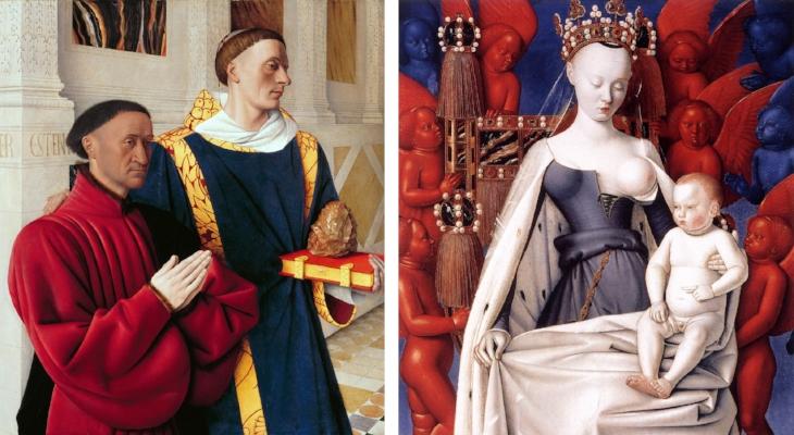Etienne Chevalier e Santo Estêvão / Virgem de Melun