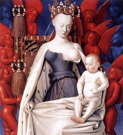 Jean Fouquet,  Virgem de Melun , 1450
