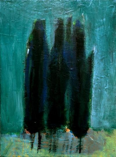 Luís Barreira  Árvores em Sintra, 1996  Pintura  acrílico s/tela  30x40 cm
