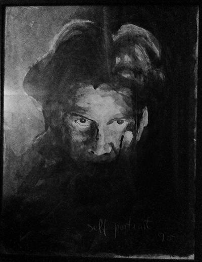 self-portrait, 95  Pintura  acrílico s/ papel  60x80 cm