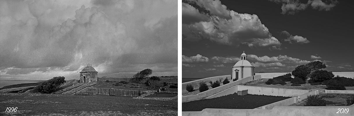Luís Barreira  Casa da Água (1996 e em 2019)  Santuário da Nossa Senhora da Mua  série:  Fotografia  arquivo: 1996_FOLIO_215_12596_-_2019_03_24_IMG_0678