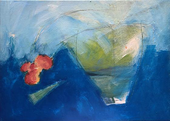 Luís Barreira,  Green Vase , 1989  Acrílico s/tela  70X60 cm