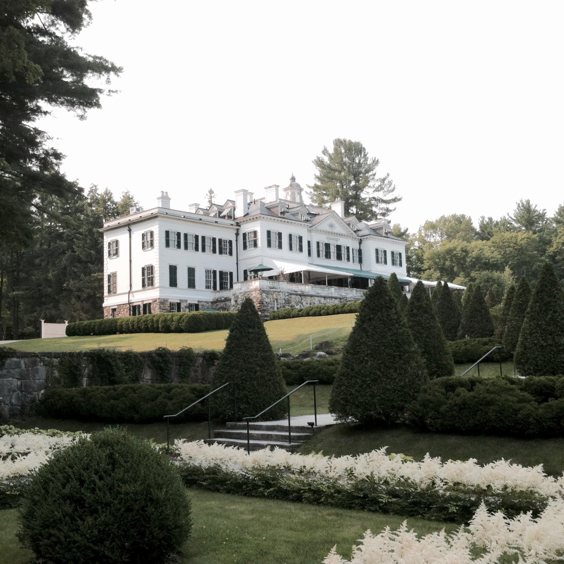 A view of the house from the gardens. — N.M-Y. '15