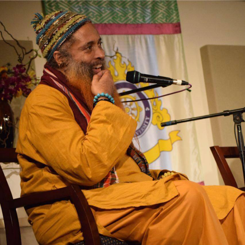 Ibrahim Baba during the interfaith dialogue at Naropa University in honor of Rabbi Zalman Schachter-Shalomi, March 1st, 2015.