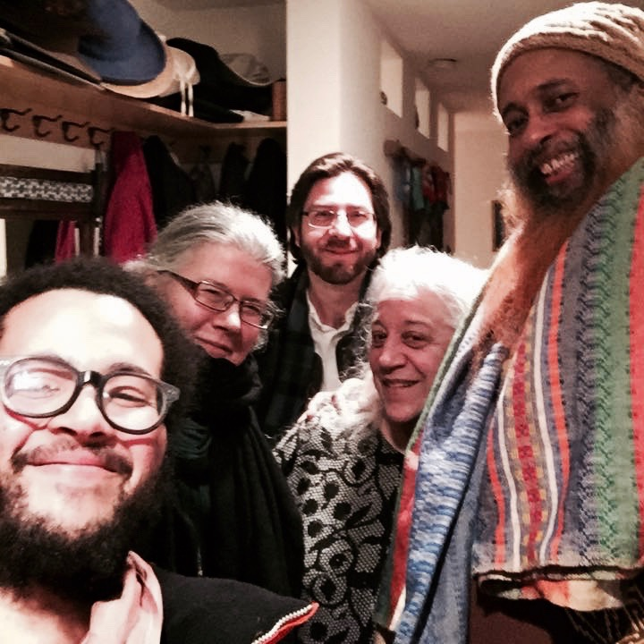 A last photo with Ibrahim Baba, Issa, Katherin, and Eve Ilsen at her home after the Reb Zalman memorial at Naropa University.