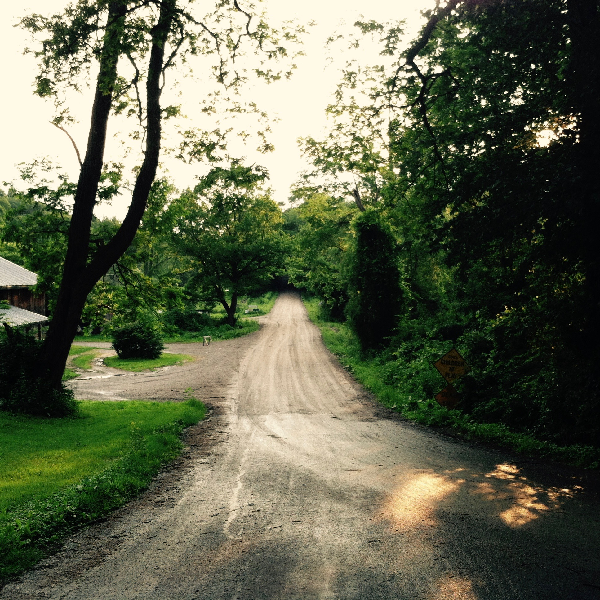 Heading down Chairfactory Road to a party. — N.M-Y, 2015