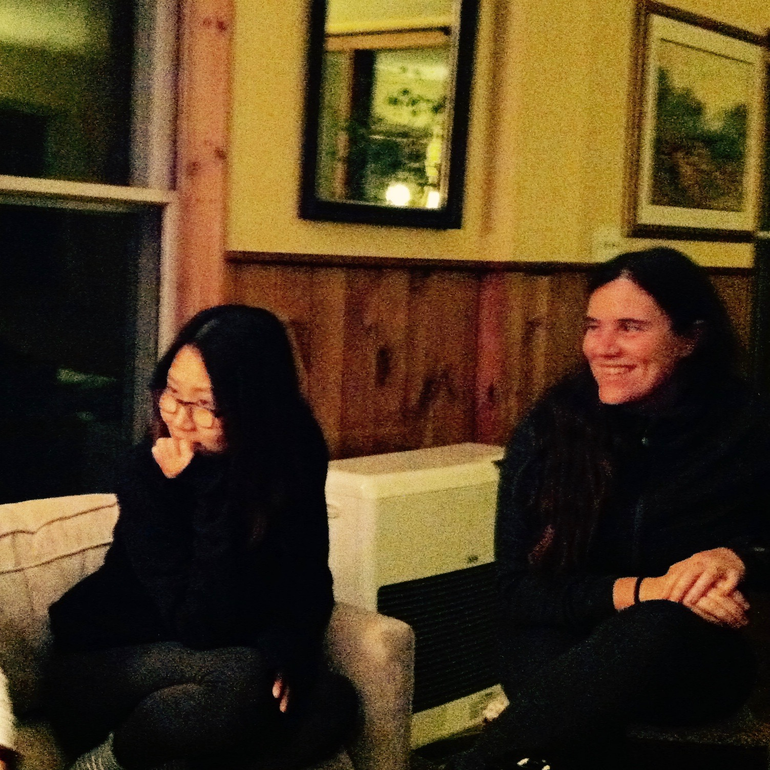 A fun discussion of Sufism with a newcomer and my friend, Jessica Bromby. — N.M-Y, 2015.